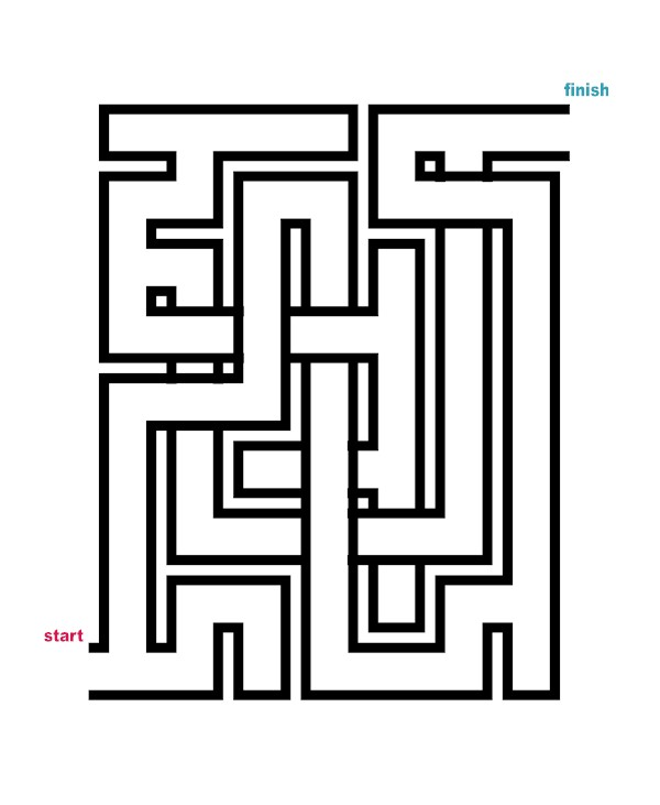 Mazes to Print - Crossover Mazes