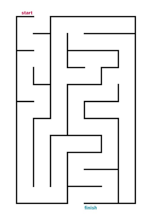 Blank Mazes Printable images