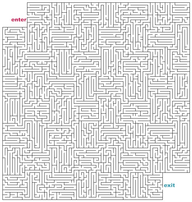 Mazes to Print Hard Cutout Mazes