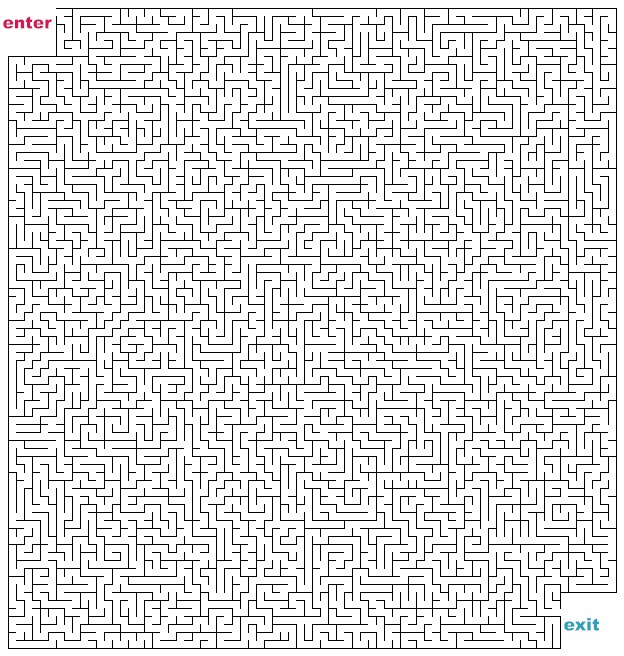 difficult mazes to print - photo #41