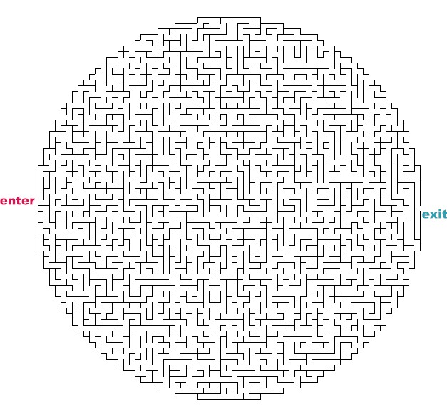 Medium hard maze coloring pages coloring pages for Herd ma e
