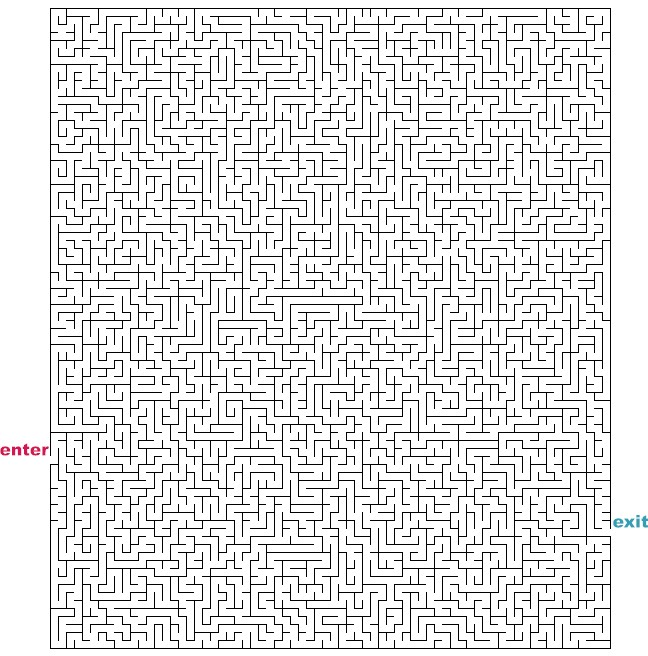 Mazes to print hard rectangle mazes for Herd ma e