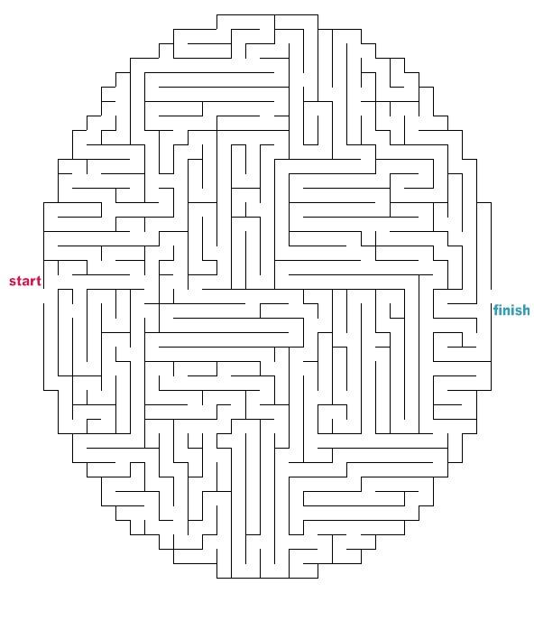 Gutsy image for printable mazes medium