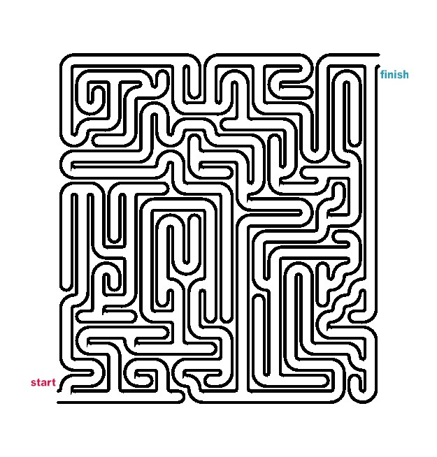 Mazes to Print - Medium Tubular Mazes