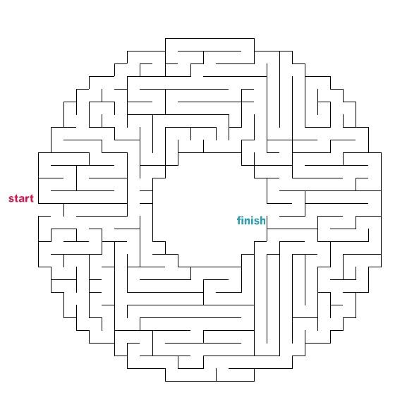 Enterprising image in printable mazes medium